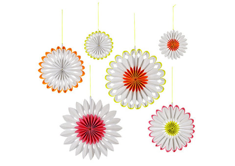 Hip Hop Hooray Flower Pinwheel Decorations