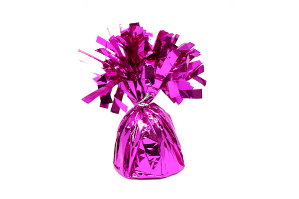 Pink Foil Tassel Balloon Weights | Pop Roc Parties
