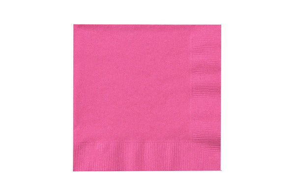 Hot Pink Beverage Paper Napkins | Pop Roc Parties