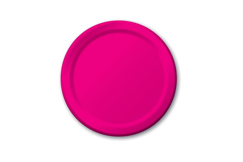 Hot Pink Small Paper Plates | Pop Roc Parties