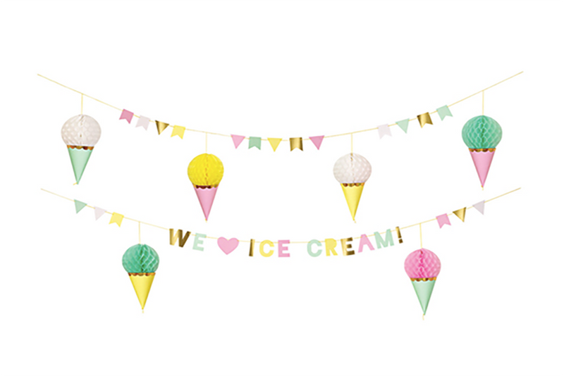 Ice Cream Garland - Pop Roc Parties