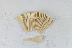 Eco Chic Wooden Ice Cream Spoons | Pop Roc Parties