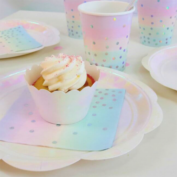 Iridescent Pastel Napkins - Pop Roc Parties