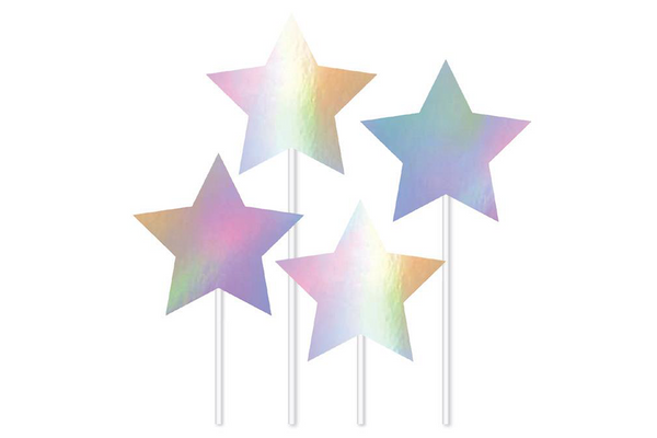 Iridescent Stars Cake Topper - Pop Roc Parties