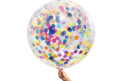 Multi Confetti Jumbo Balloon - Pop Roc Parties