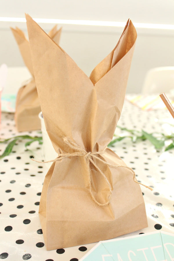 Kraft Plain Large Gusset Bags | Pop Roc Parties