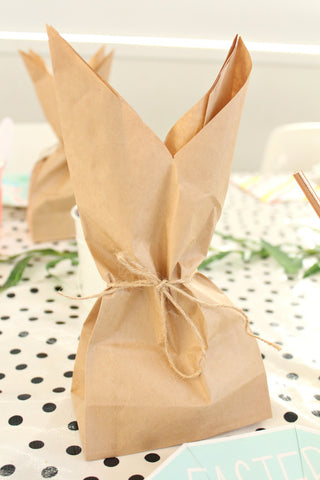 Kraft Plain Large Gusset Bags