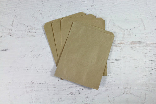 Kraft Flat Paper Bags - Pop Roc Parties