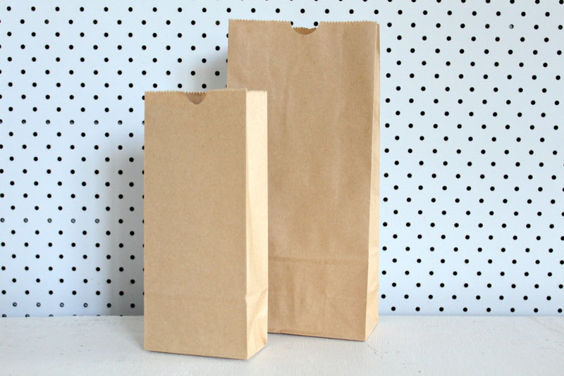 Kraft Plain Small Gusset Bags - Pop Roc Parties