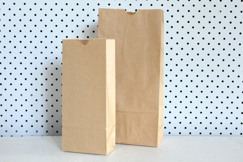 Kraft Plain Small Gusset Bags