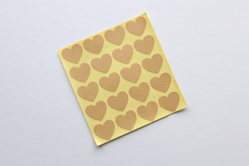 Kraft Heart Stickers | Pop Roc Parties