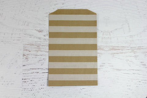 Kraft Horizontal Stripe paper Bags