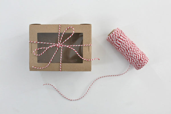 Red 12 Ply Bakers Twine Roll - Pop Roc Parties