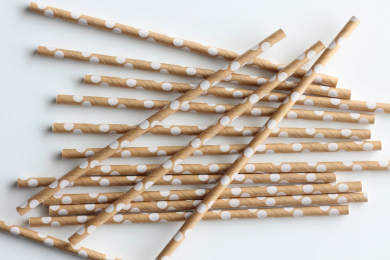 Kraft Polka Dot Paper Straws | Pop Roc Parties