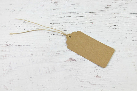 Kraft Scallop Edge Gift Tags