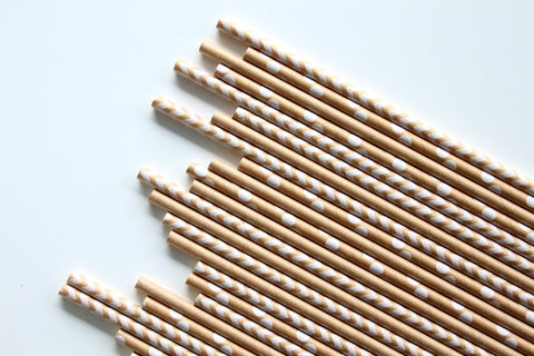 Kraft Polka Dot Paper Straws - Pop Roc Parties