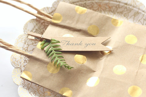 Kraft 'Thank You' Pennant Mini Gift Tags