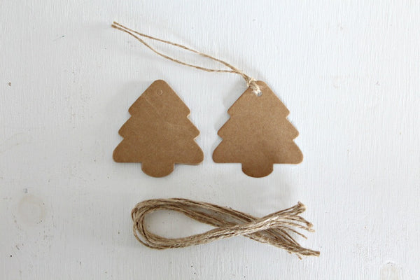 Kraft Christmas Tree Gift Tags | Pop Roc Parties