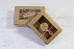 Kraft Small Window Favour Boxes | Pop Roc Parties
