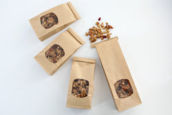 Kraft Window Tin Tie Favor Bags - Pop Roc Parties