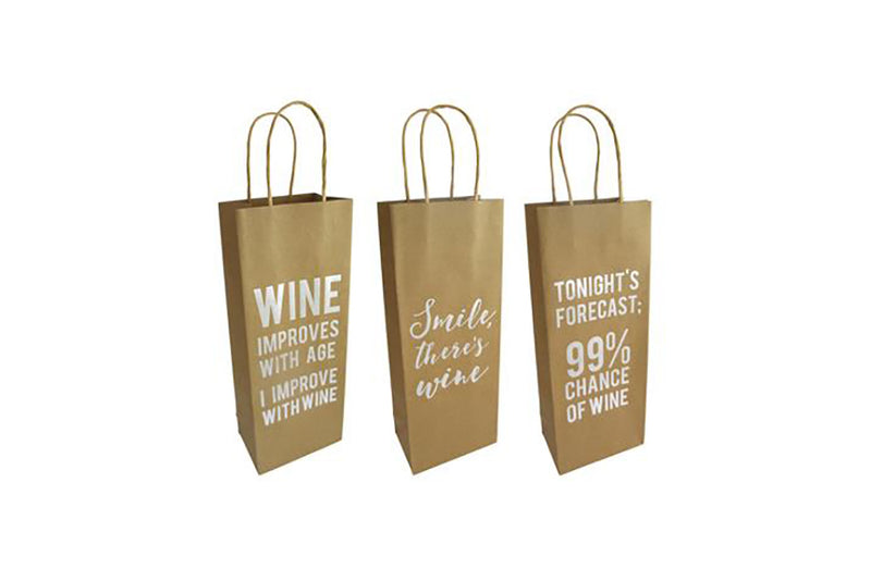 Kraft Wine Gift Bags | Pop Roc Parties
