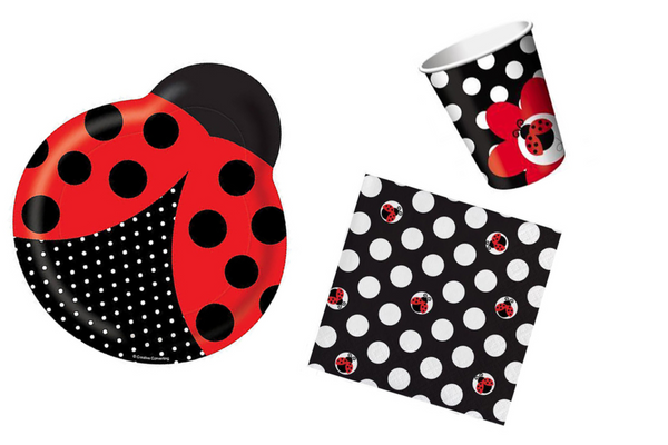 Ladybug Shaped Party Plates | Pop Roc Parties