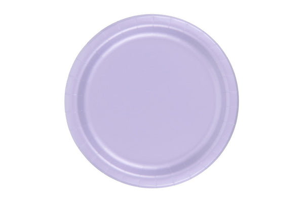 Lavender Small Paper Plates - Pop Roc Parties