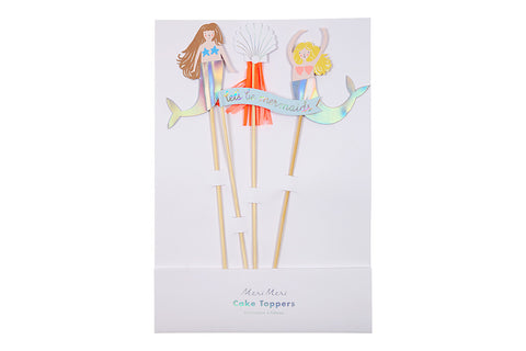 Let's Be Mermaids Cake Toppers - Pop Roc Parties