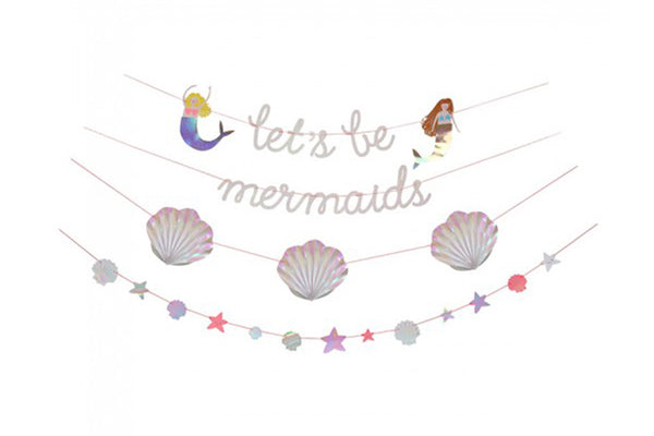 Let's Be Mermaids Garland - Pop Roc Parties