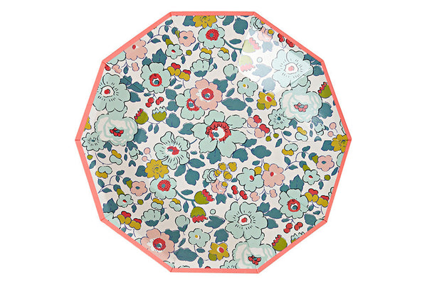 Liberty Betsy Floral Party Plates - Pop Roc Parties