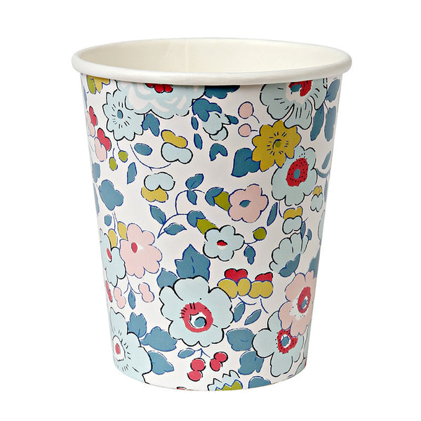 Liberty Betsy Floral Party Cups - Pop Roc Parties