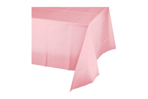 Light Pink Plain Plastic Table Cover