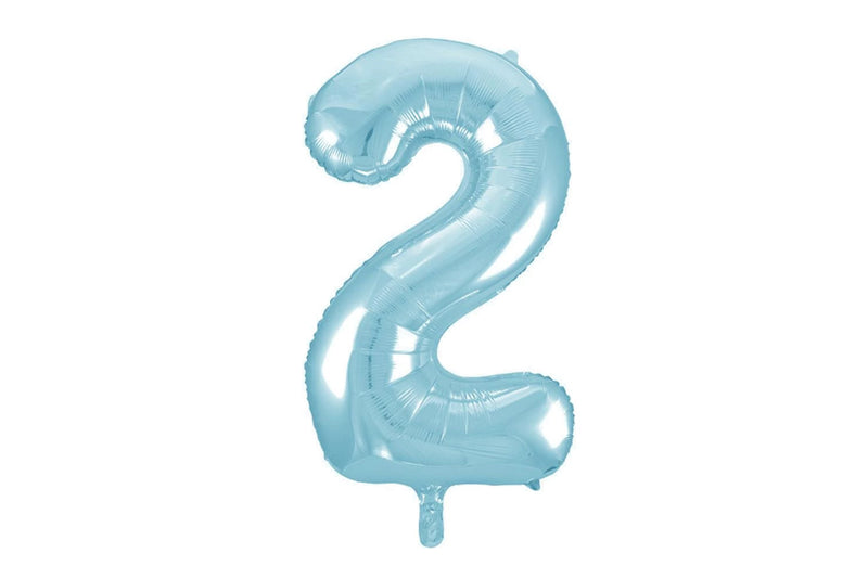 Light Blue Foil Number '2' Balloon | Pop Roc Parties