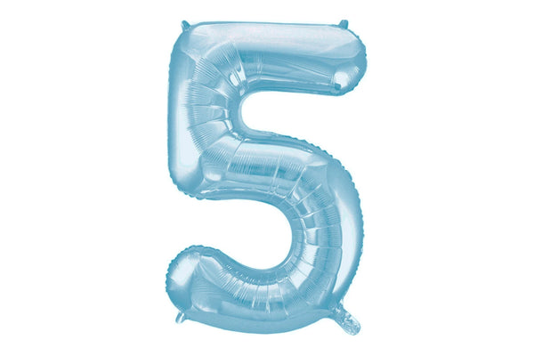 Light Blue Foil Number '5' Balloon | Pop Roc Parties