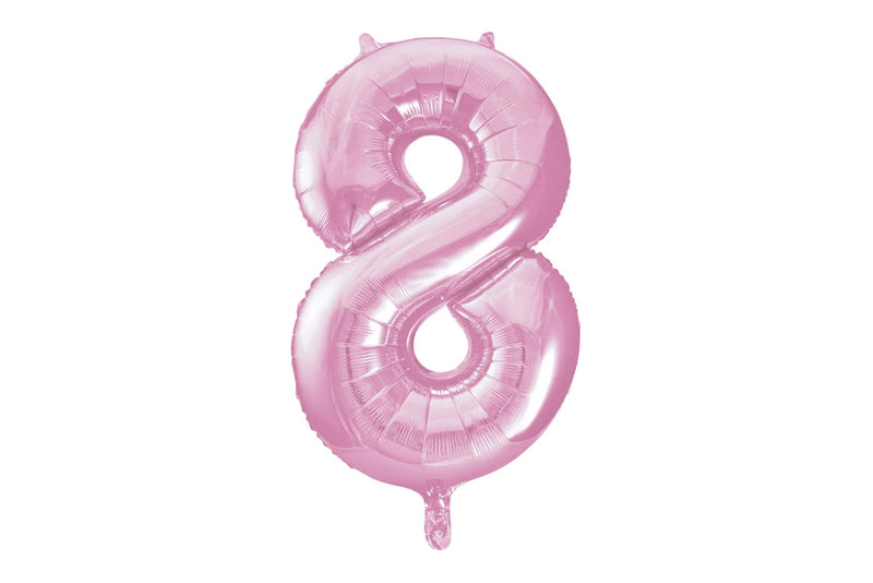 Light Pink Foil Number '8' Balloon | Pop Roc Parties
