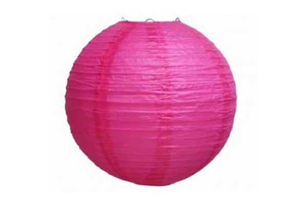 Magenta Large Paper Lanterns - Pop Roc Parties