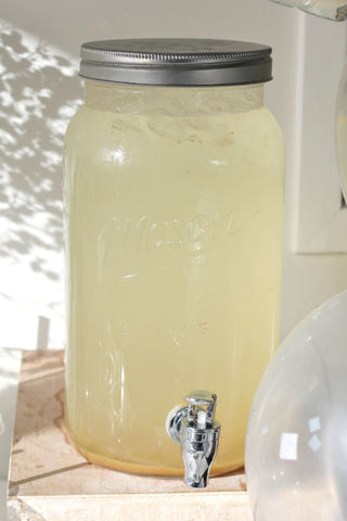 Mason Jar Glass Drink Dispenser