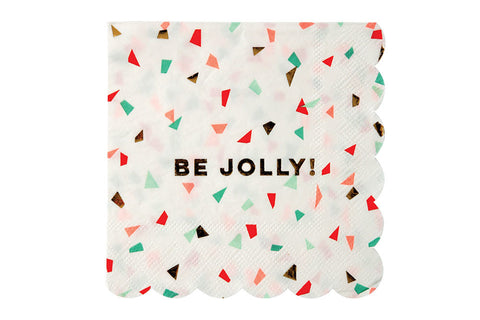 Meri Meri Be Jolly Confetti Napkins