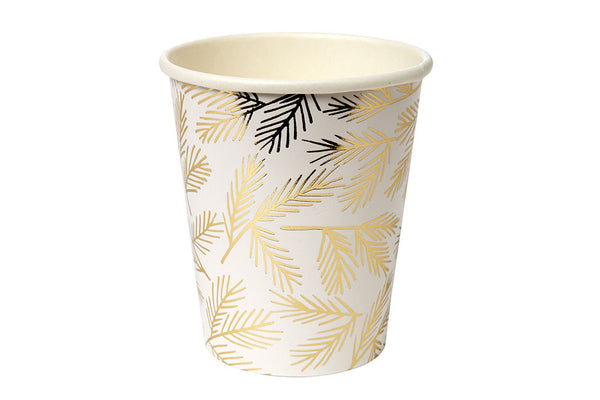 Meri Meri Gold Pine Cups - Pop Roc Parties