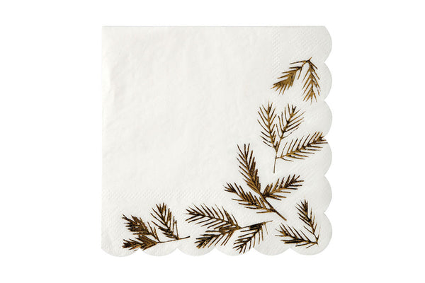 Meri Meri Gold Pine Napkins - Pop Roc Parties
