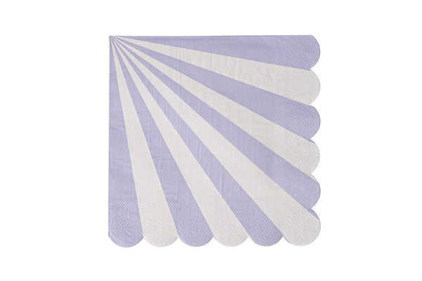 Toot Sweet Lavender Stripe Napkins - on SALE due to packaging damage - Pop Roc Parties