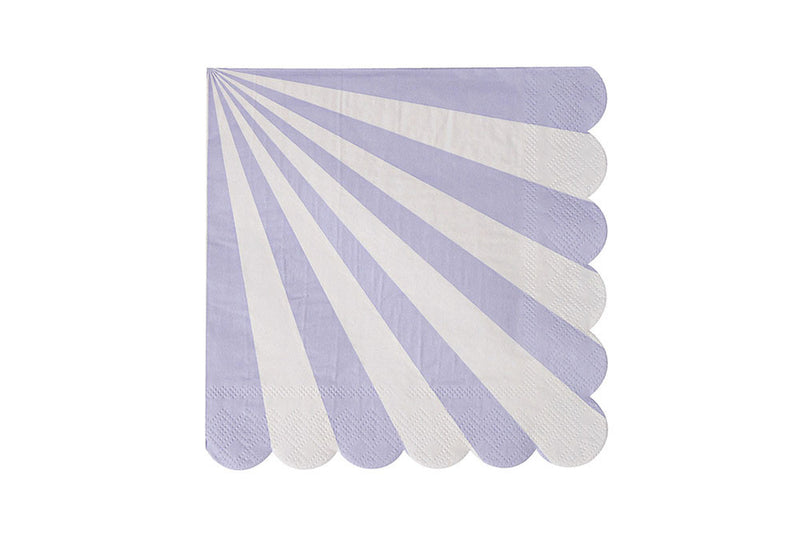 Toot Sweet Lavender Stripe Napkins | Pop Roc Parties