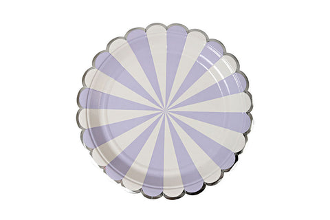 Toot Sweet Lavender Stripe Plates