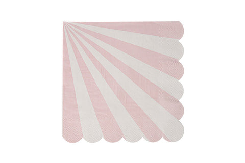 Toot Sweet Dusty Pink Stripe Napkins