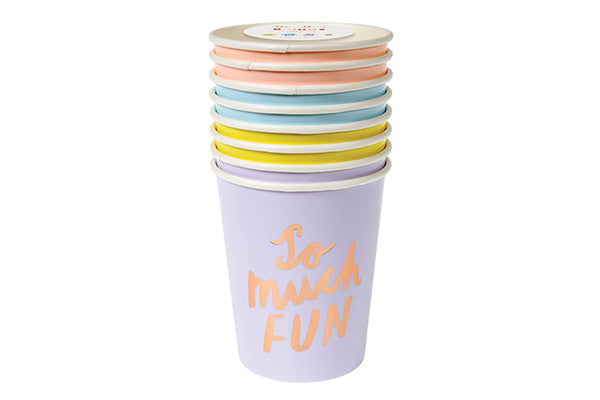 Meri Meri Typographic Cups - Pop Roc Parties