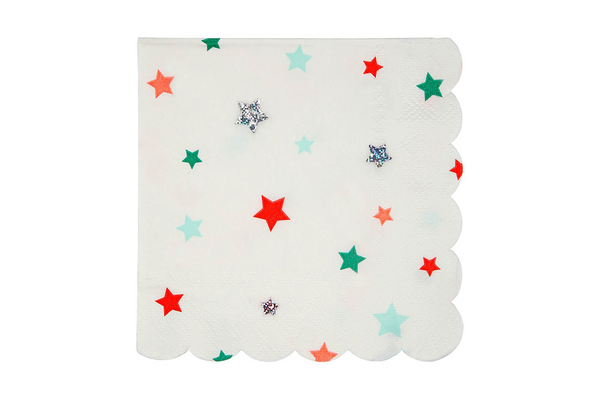 Meri Meri Christmas Stars Napkins | Pop Roc Parties