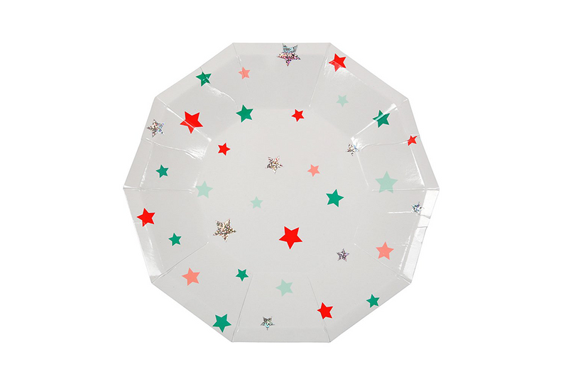 Meri Meri Christmas Stars Plates | Pop Roc Parties