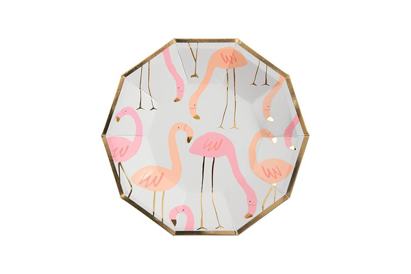 Meri Meri Flamingo Plates - Pop Roc Parties