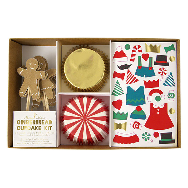 Christmas Gingerbread Cupcake Kit - Pop Roc Parties
