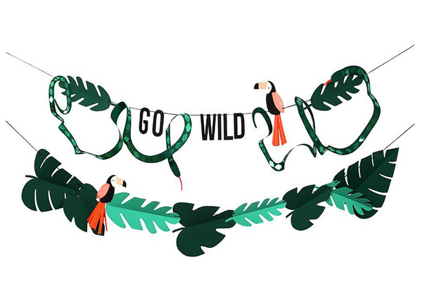 Go Wild Jungle Garland - Pop Roc Parties